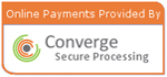 Secure online payments via Converge