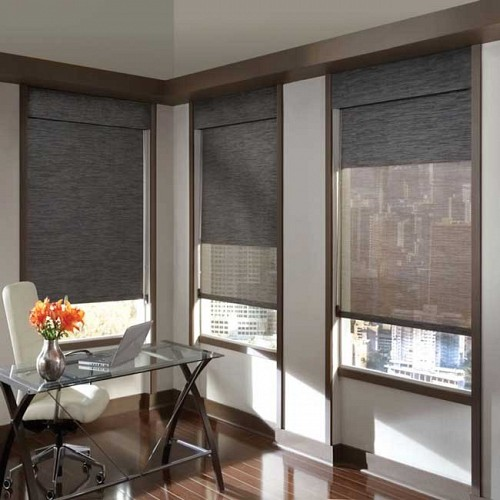 Gsa roller shades overview american blind and shade for Motorized blackout roller shades